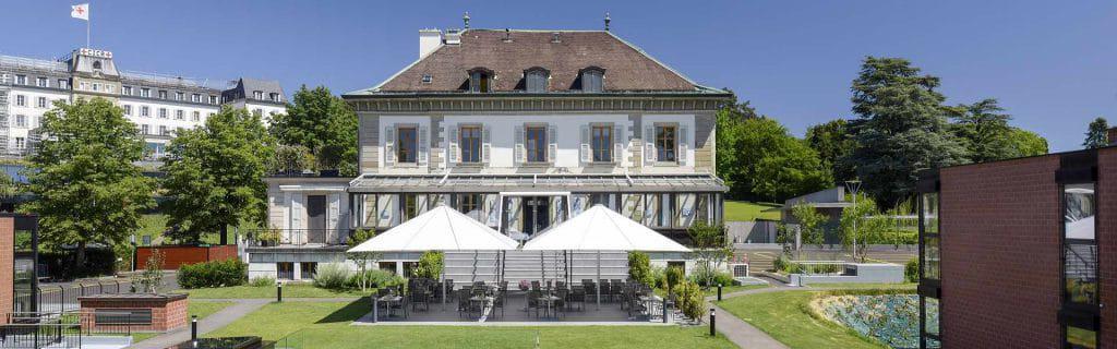Ecole Hôtelière de Genève, au bord du lac léman en Suisse
