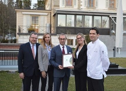 Le restaurant Vieux Bois de l'Ecole Hôtelière de Genève a reçu la certification Ecocook niveau 3 - certifié Ecocook