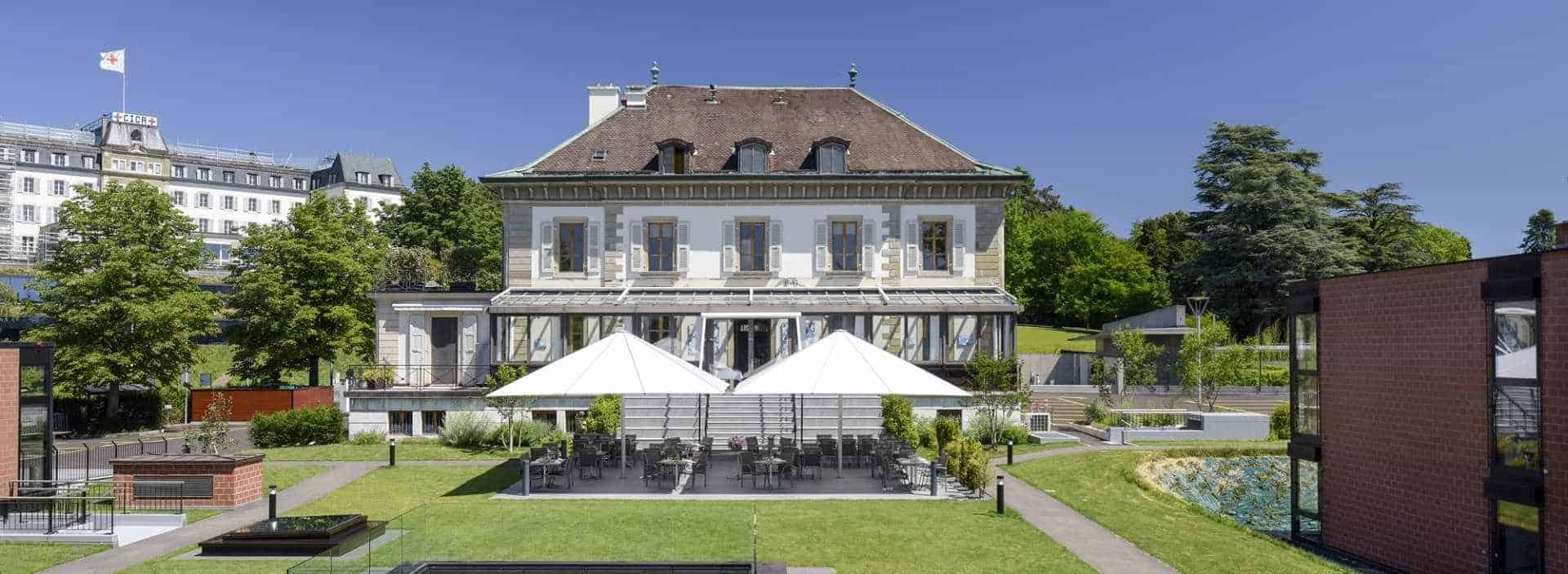 Ecole Hôtelière de Genève ( EHG ), au bord du lac Léman en Suisse