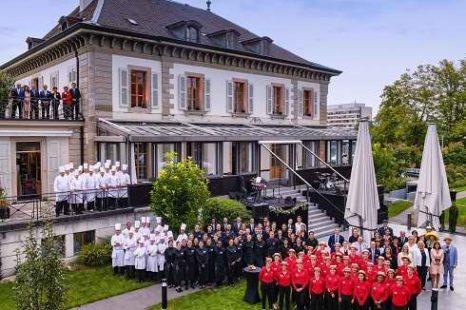Garden Party a l'Ecole Hoteliere de Geneve avec le restaurant vieux bois