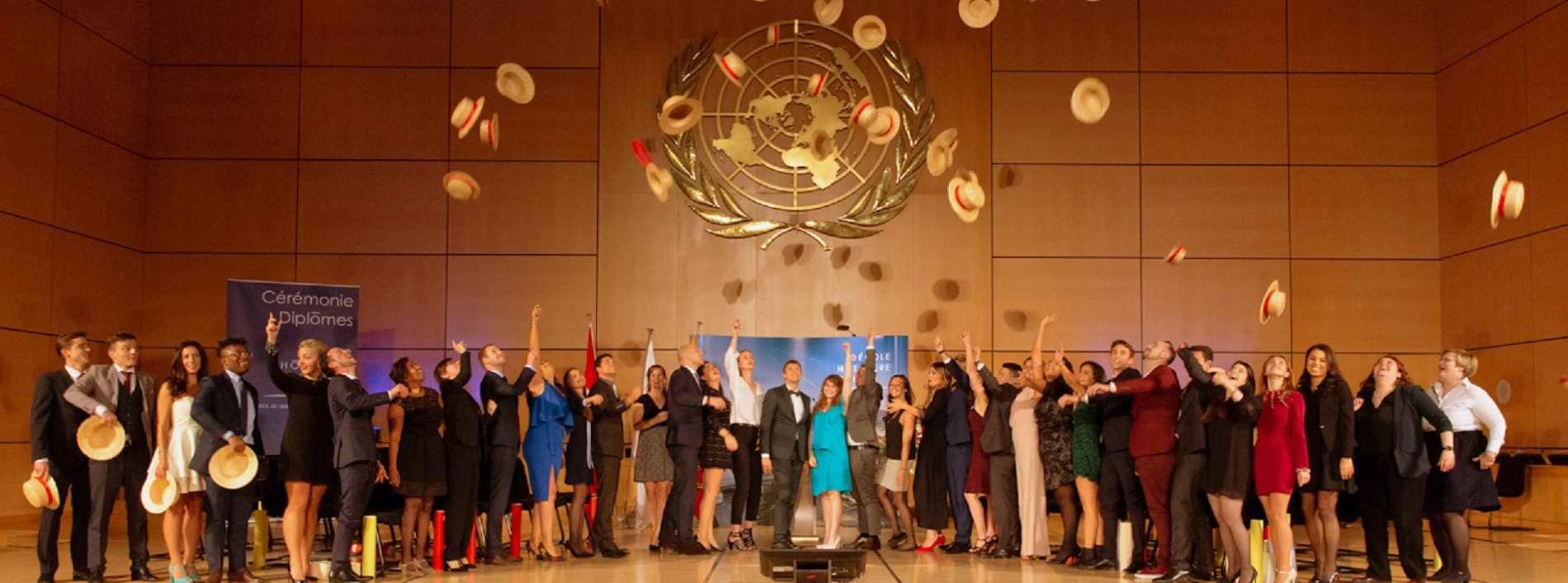 Ceremonie de Remise des diplomes a l'Ecole hoteliere de Geneve - Lancé des Canotiers vol.131