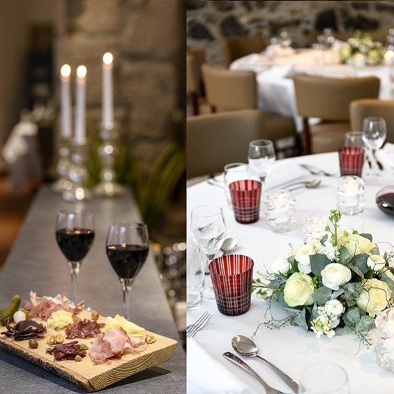 Apéritif pour le repas de fin d'année de votre entreprise au restaurant l'Auberge Chambesy Genève
