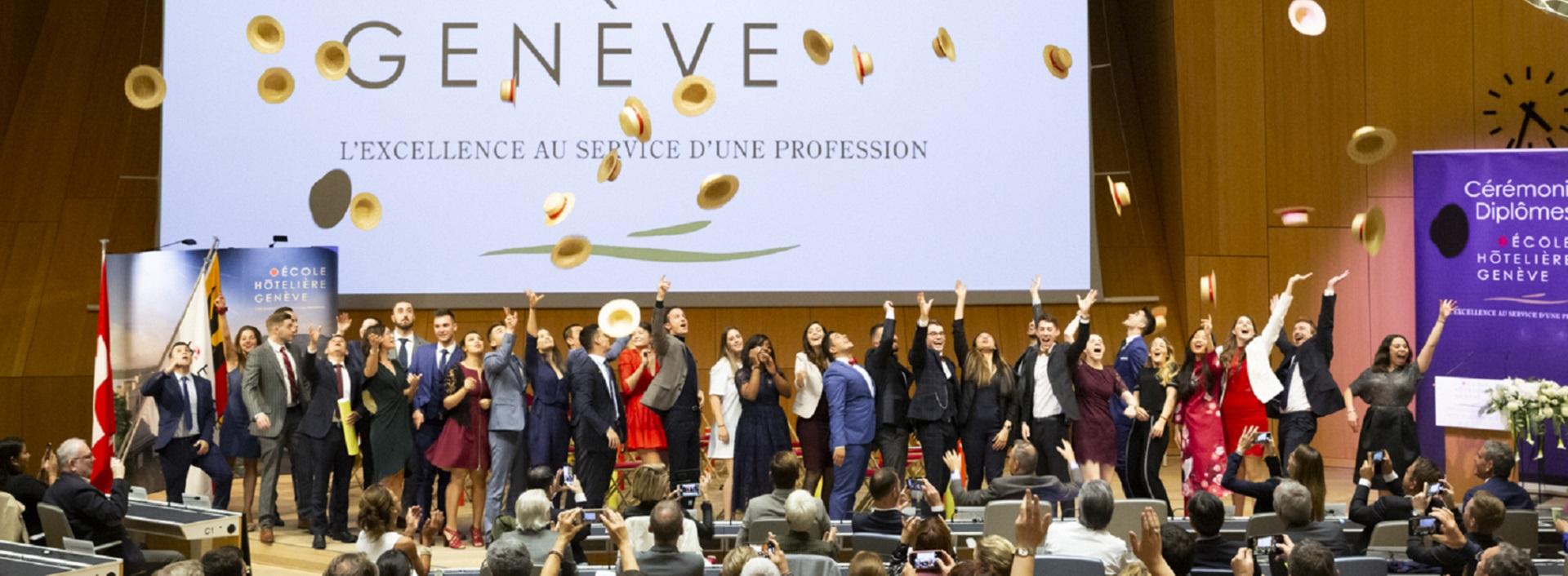 Cérémonie de remise des diplomes Promotion CHI Geneve Ecole Hôtelière de Genève.