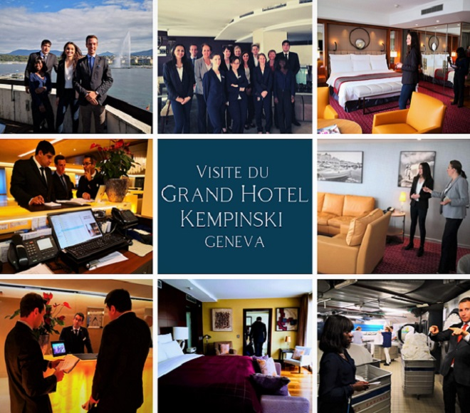 Les étudiants ANIFOR découvrent les coulisses du Grand Hotel Kempinski Geneva