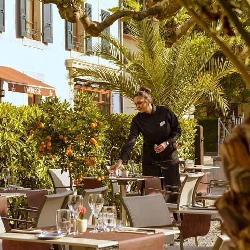 Restaurant avec terrasse à Chambesy - Le restaurant L'Auberge à 5 minutes de Genève