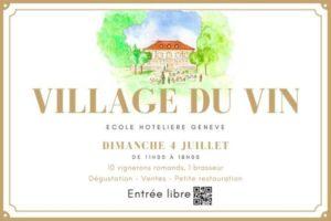 Rencontrer les vignerons Suisse au Village du Vin a l Ecole Hoteliere Geneve